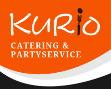 The logo for Ralf Kurio – Kurio Catering & Partyservice